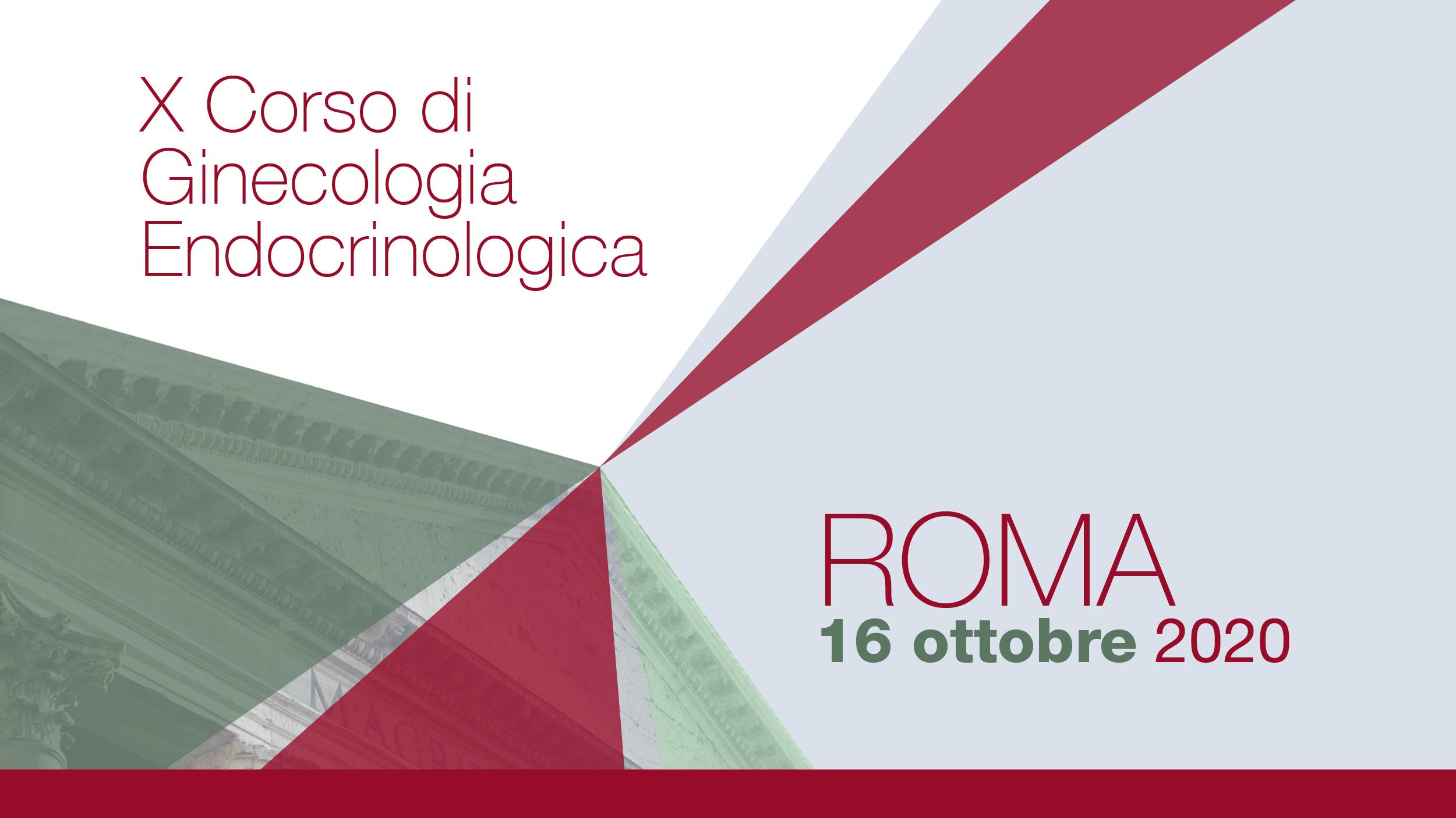 X Corso di Ginecologia Endocrinologica