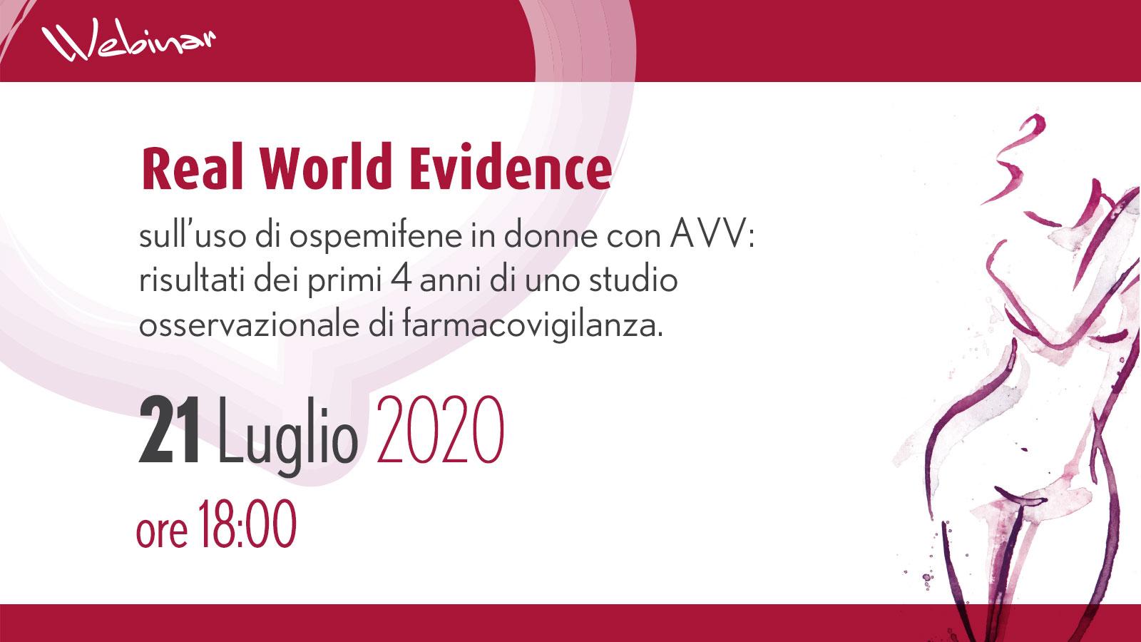 Real World Evidence sull'uso di ospemifene in donne con AVV: risultati dei primi 4 anni di uno studio osservazionale di farmacovigilanza